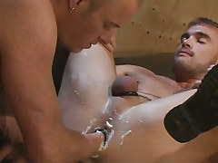 Lusty gay fistfucks beautiful mate