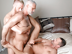 3 males from different decades hook up in a delicious triple sort