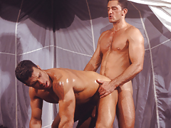 A frenzy of masculine desire. Sucking, very and rimming!