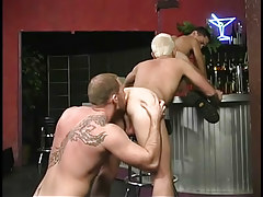 Hairy faggot stripper loves to acquire rimmed in 3 movie scene