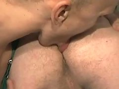 Gay worker licks males ass and sucks cock
