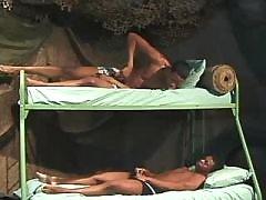 Black schlong penetrates tight ass