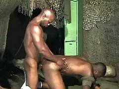 Black gay taking good anal reaming