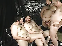 Mature gay jizz by turns on man