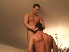 Gay hunk sucks hard cock