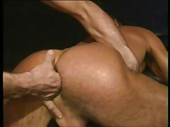 Lusty gay gets fingering in tight asshole