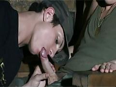 Military twink sucks his boyfriend