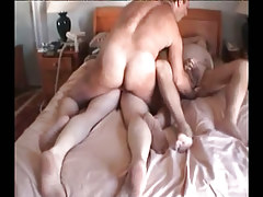 Fat mature gays fuck in group