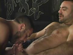 Bear gay sucks his mature boyfriend