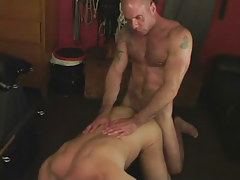Hairy dilf fucks mature boyfriend in doggy style