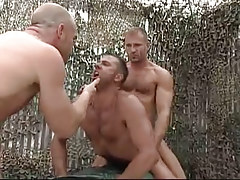 Hairy gays share amateur man in nature