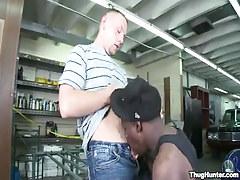 Gay man sucked by black guy